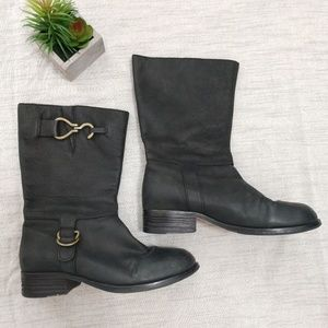 Cole Haan Leather moto boots size 7.5